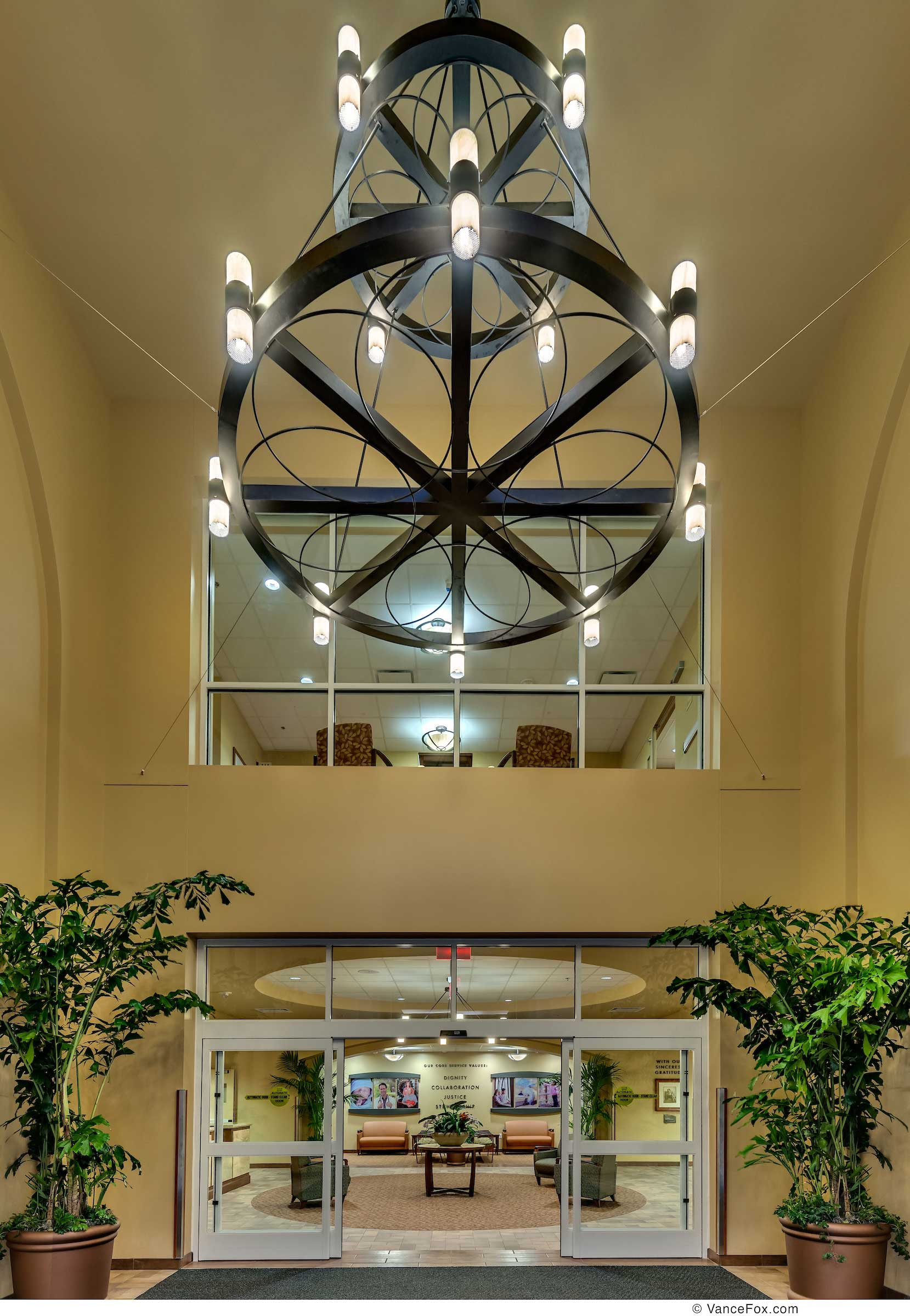Two Story Lobby Entry