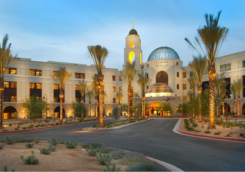 featured image showing the exterior of Mercy Gilbert Medical Center in Gilbert, Arizona